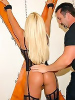 Fetish hot blonde get her big clit pinched har d then fucked hard in these pics and big video update