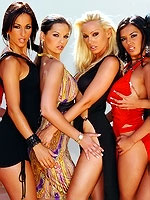 Eve Angel, Jasmine Black and Friends In Groupsex Orgy At The Villa