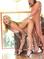 Janine is getting fucked hard while she plays with her hot pussy